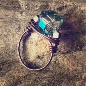 Wire Wrapped Ring size 8. Handmade